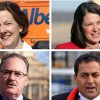 The leaders of the four main political parties in Alberta clockwise, from top left, Conservative Leader Alison Redford, Wildrose Party Leader Danielle Smith, NDP Leader Brian Mason and Liberal Leader Raj Sherman.