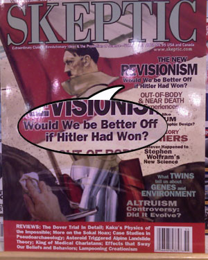 Skeptic Magazine Cover - for the record, I say no.